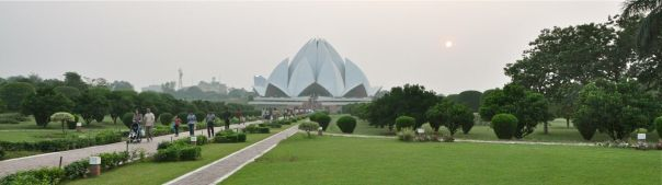 Baha'i Lotus Temple from a distant walk